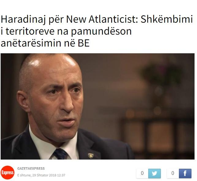 Intervju Haradinaja