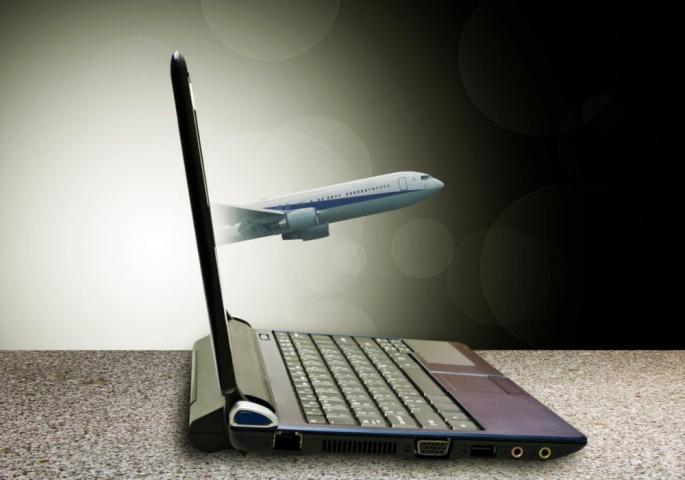 laptop i avion