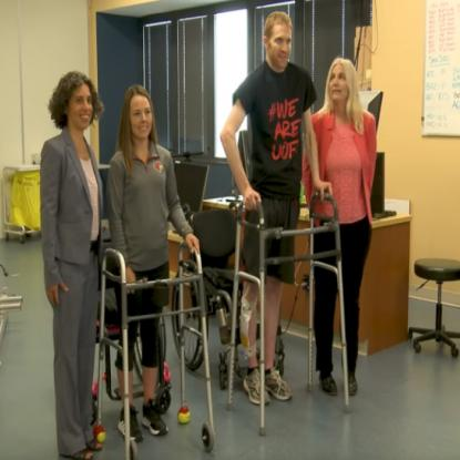 Spinal Cord Injury Patients taking steps