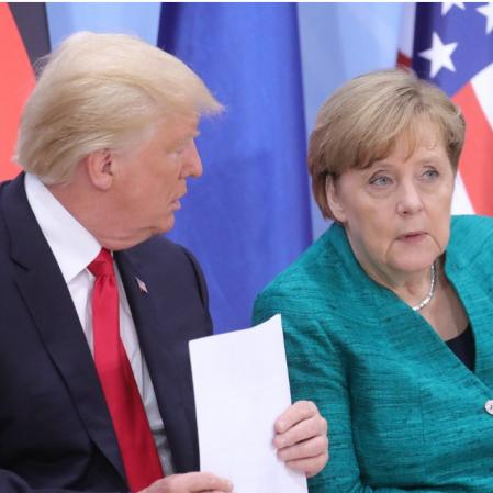 Donald Tramp i Angela Merkel